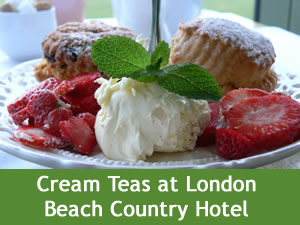 Have a Cream Tea at London Beach Country Hotel